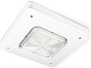Hyperikon LED Canopy Light, 100W (HID HPS Replacement), Outdoor Commercial Light Fixture, White, 5000K, UL, DLC
