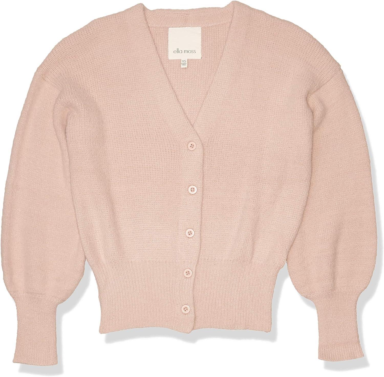 Ella Moss Women's Brinne Stylish V-Neck Crop Cardigan Sweater