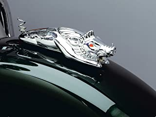 Kuryakyn 9022 Motorcycle Accent Accessory: Front Fender Wild Boar Ornament with Illuminated Eyes, Universal Fit for 12V Applications, Chrome