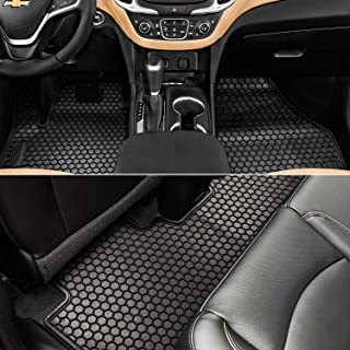 Bonbo Floor Liner Mats for Chevrolet Equinox 2018-2020,Custom Fit,Front and Rear Seat Floor Mats,All-Weather Guard,Heavy Duty Rubber,Odorless(Pack of 3)