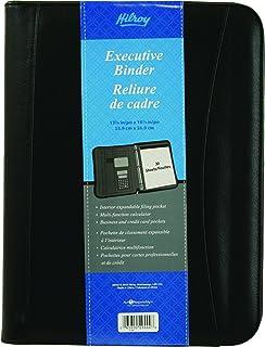 Hilroy 1 Inch Executive Binder, 10-1/4 X 13-3/8 Inches, Black (29444)