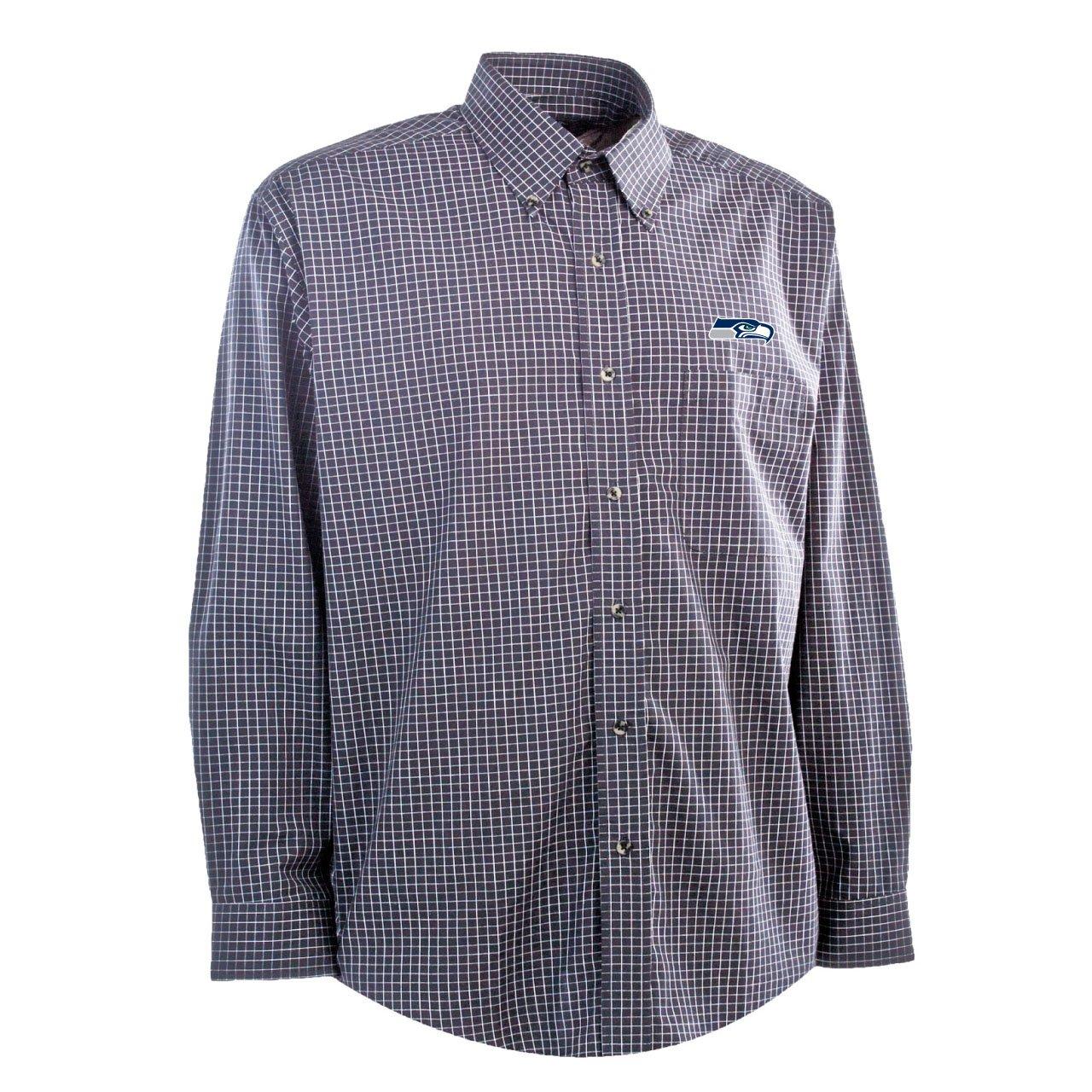 Antigua NFL Camiseta de Seattle Seahawks Esteem Tejido Vestido Camiseta, Hombre, Navy/Grey/White: Amazon.es: Deportes y aire libre