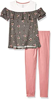 One Step Up Girls' 2 Pc Knit Top and Legging Set