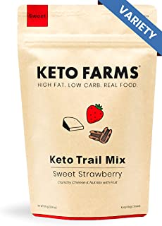 Keto Trail Mix, Crunchy Cheese Mix, Keto Friendly Snacks by Keto Farms (3g Net Carb) [Variety Pack] 3.34 Ounce, 3 Count | Real Keto Food, High Fat Low Carb Snacks