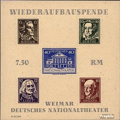 cómodamente Prophila Collection soviética zona zona zona (aliada.ocupación.) Block3B (completa.edición) 1946 Teatro Nacional (sellos para los coleccionistas) Celebridades   Cine   Teatro  nuevo estilo