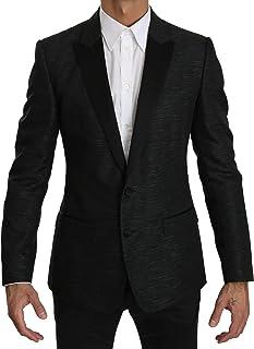 Dolce & Gabbana Black Slim Fit One Piece Jacket Martini Blazer