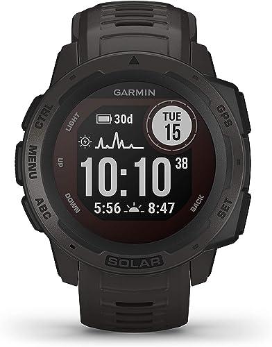 Garmin Instinct Solar - Montre GPS de plein air robuste avec chargement à l'énergie solaire - Noir