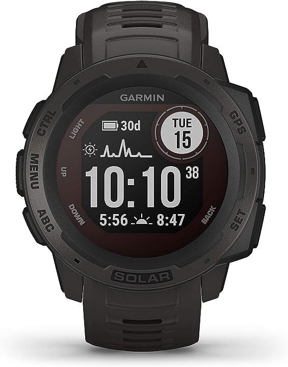 Smartwatch gps ultra-resistente con ricarica solare, cardio, pulseox, app multisport, grafite garmin 010-02293-00