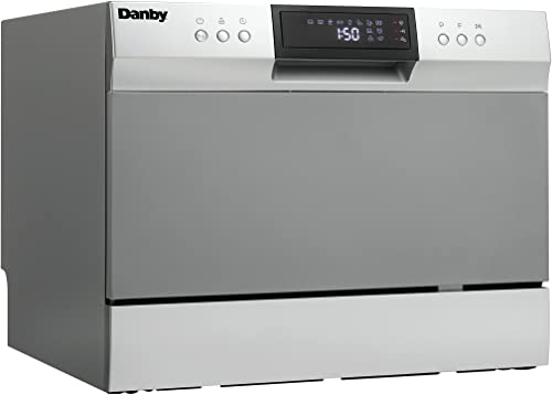 Danby DDW631SDB Countertop Dishwasher with 6 place Settings and Silverware Basket, LED Display, Energy Star