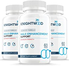 (3 Pack) Knightwood Male Natural Support Booster Pills for Beginners - Elevated Levels (180 Capsules)
