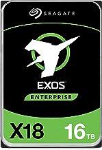 Seagate Exos X18 16TB Enterprise HDD - CMR 3.5 Inch Hyperscale SATA 6Gb/s, 7200 RPM, 512e and 4Kn...
