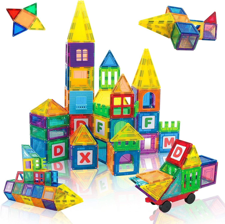 JUMAGA 3D Now free shipping Magnetic Tiles Building Blocks Magnet Toys Piece 108 Rare