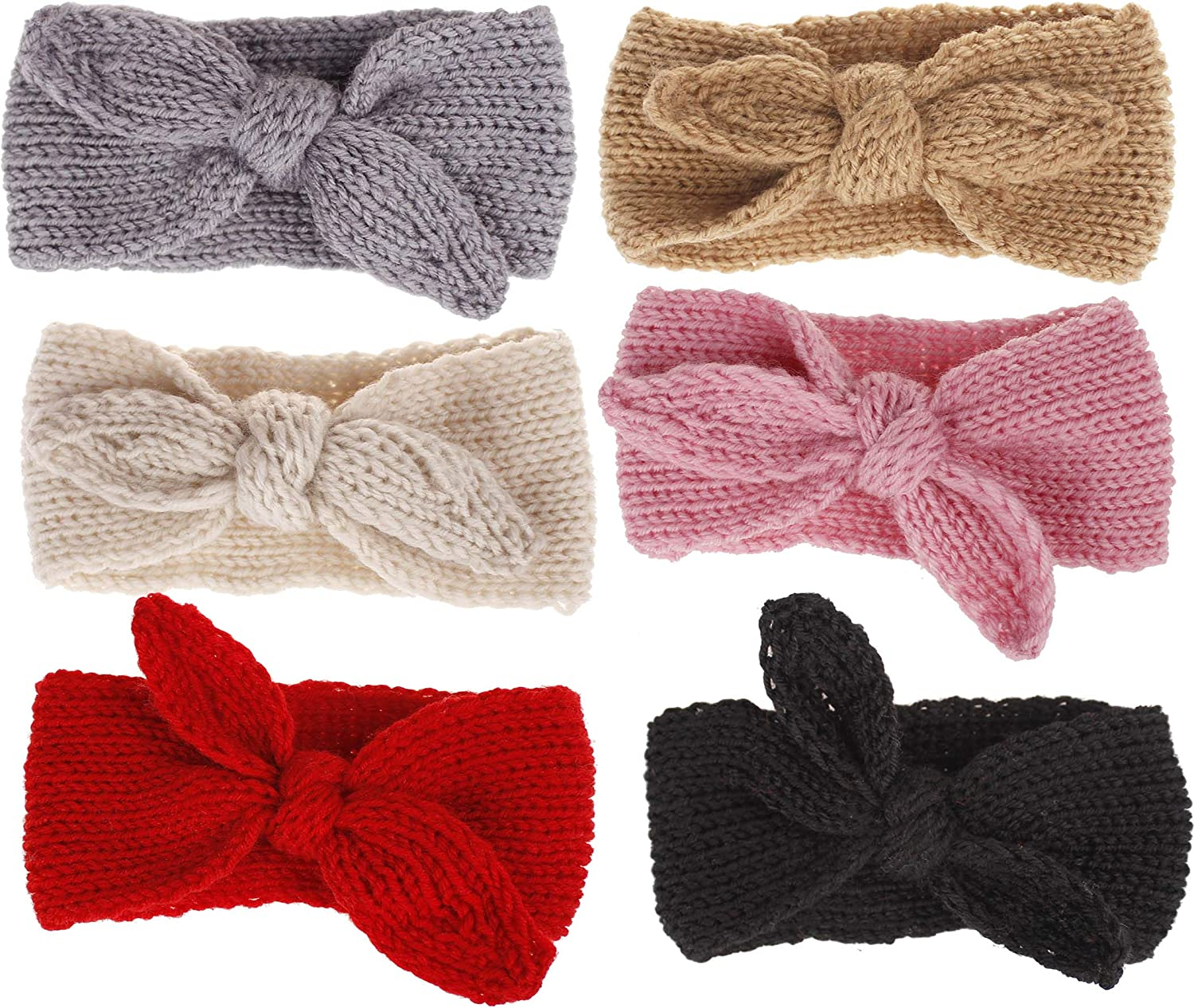YCMI Baby Turban-Knitting Headband Winter-Wrap-Knotted-Wide - Toddlers Headbands 6 Pieces