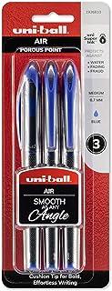 uni-ball AIR Rollerball Pens, Fine Point (0.7mm), Blue, 3 Count