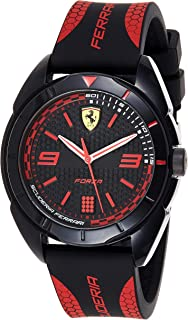 Ferrari Unisex-Adult Quartz Watch, Analog Display and Silicone Strap 830515