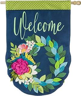 Evergreen Flag Flower Garden Burlap House Flag - 28 x 44 Inches Outdoor Decor for Homes and Gardens