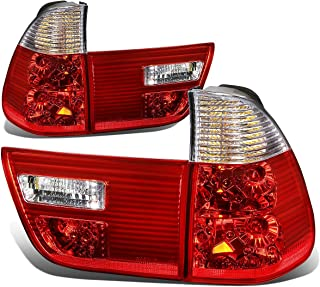 DNAMotoring TL-E53X500-CL-RD Tail Light Assembly, Driver and Passenger Side