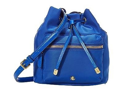 LAUREN Ralph Lauren Dryden Drawstring Soft Nylon Debby II Mini (Masai Blue) Handbags