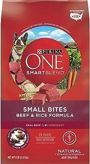 Purina ONE Natural Dry Dog Food; SmartBlend Small Bites Beef & Rice Formula - 8 lb. Bag