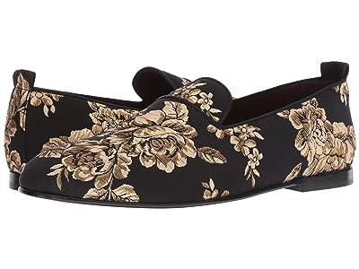 Dolce & Gabbana Embroidered Loafer (Black/Gold) Men