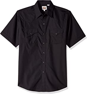 Ely & Walker Men's Short Sleeve Solid Western Shirt