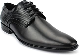AvantHier Black Genuine Leather Official Glossy Look Formal Shoes for Men's/Boys
