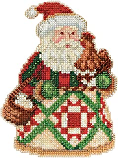 Jim Shore Early Morning Santa Counted Cross Stitch Kit-5x5 18 Count
