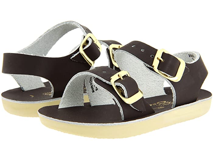 Salt Water Sandal by Hoy Shoes  Sun-San - Sea Wees (Infant/Toddler) (Brown) Kids Shoes