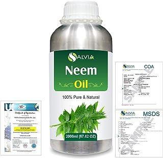 Neem (Azadirachta indica) 100% Natural Pure Essential Oil 2000ml/67 fl.oz.