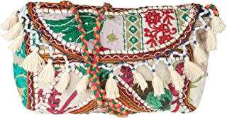 Tribe Azure Satchel Quilted Purse Handbag Tote Crossbody Embroidered Tassel Fashion Boho Hippie Hipster