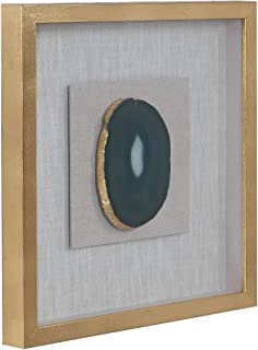 Gold Agate Stone Shadow Box - 20 X Modern Contemporary Glass Wood