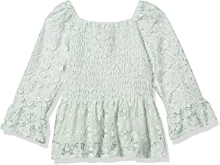 Speechless girls Bell Sleeve Peplum Smocked Top Blouse