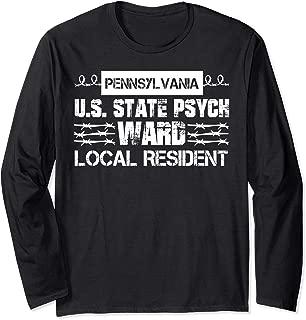 Pennsylvania Inmate Psych Ward County State Jail Halloween Long Sleeve T-Shirt