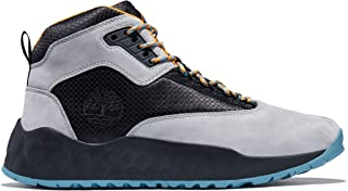 حذاء Timberland Solar Wave متوسط الرقبة من الجلد، بني