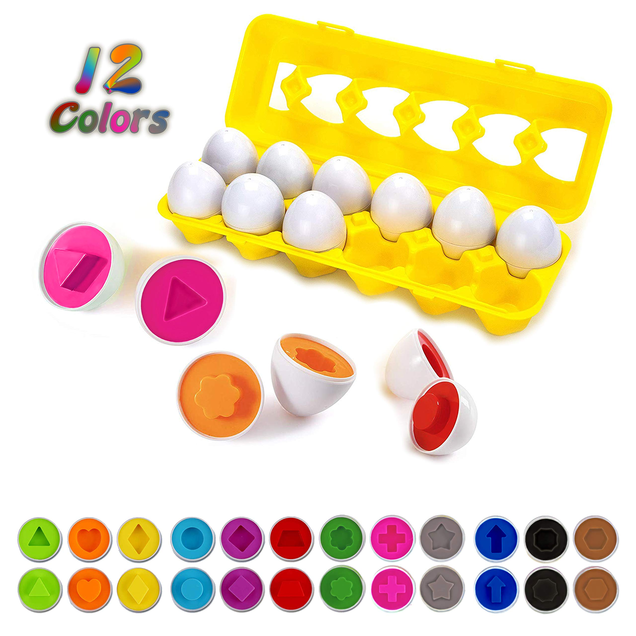Color Shapes Matching Egg Toy