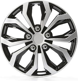 comprar comparacion Cartrend 4x Tapacubos Daytona Negro/Plata 15Pulgadas