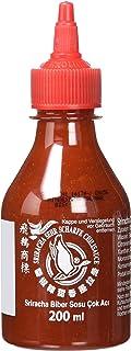 FLYING GOOSE Sriracha sehr scharfe Chilisauce - sehr scharf, rote Kappe, Würzsauce aus Thailand, 1er Pack 1 x 200 ml