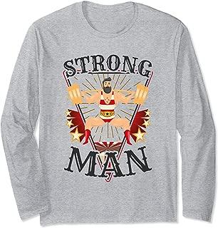 Squat Shirt - Vintage Circus Strongman Costume Long Sleeve T-Shirt