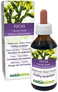 BLASENTANG Fucus vesiculosus Thallus Alge Alkoholfreier Urtinktur NATURALMA | Flüssig-Extrakt Tropfen 100 ml | Nahrungsergänzungsmittel | Veganer