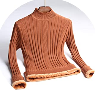 Plus Velvet Sweater Female 2018 Autumn Winter New Korean semi-high Collar Slim Warm Shirt