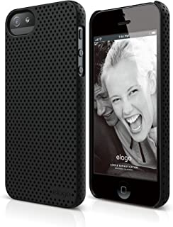 iPhone SE case, elago [Breathe][Soft Feeling Black] - [Heat Reduction][Minimalistic][True Fit] - for iPhone SE/5/5S