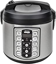 Aroma Housewares Professional Plus ARC-5000SB 20 Cup (Cooked) Digital Rice Cooker, Food Steamer, Slow Cooker, Stainless Exterior/Nonstick Pot