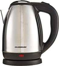 Olsenmark OMK2356 1.8L Cordless Electric Kettle | Stainless Steel Kettle | Boil Dry Protection & Auto Shut Off Feature | I...