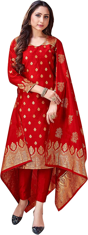Indian Pakistani Women's 2021 new Readymade Dress Silk Bargain Art Banarasi Wove