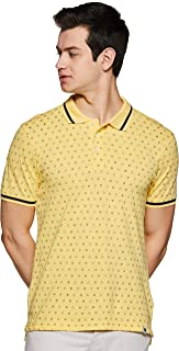 Amazon Brand - Symbol Men's Printed Regular fit Polo