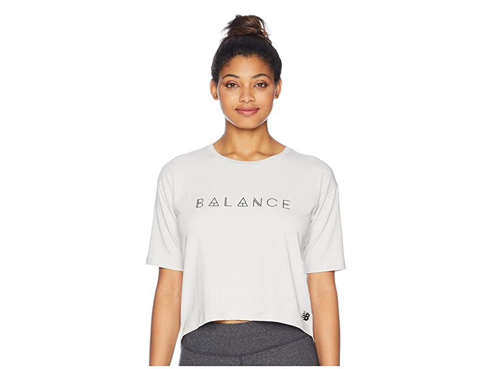 New Balance Release Layer Tee (Sea Salt Heather) Women