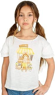 Conjunto de Ropa Oto/ño Invierno Dos Piezas Camiseta de Manga Larga con Estampado de Dibujos Animados Tops MYONA Conjunto de Ropa Ni/ñas Pantalones Largos con Rayas Conjuntos de Ropa Suave 3T-7T