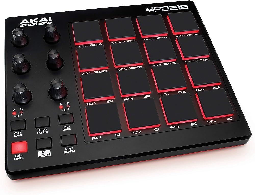 Akai professional controller midi usb con 16x3 pad mpc strumenti virtuali sonivox MPD218