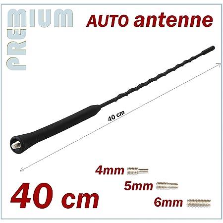 Kfz Antennenstab Universal 40cm Stab Auto Antenne Mit M4 M5 M6 Gewinde Radio Ukw Fm Dachantenne Auto