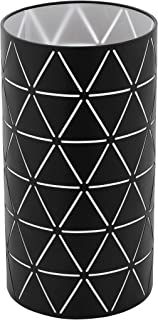 EGLO Lámpara de mesa Ramon, 1 lámpara de mesa moderna, lámpara de noche de acero, lámpara de salón en negro, blanco, lámpara con interruptor, casquillo E27